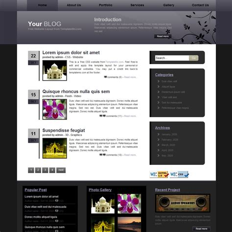 css templates for blogger template 030 blog