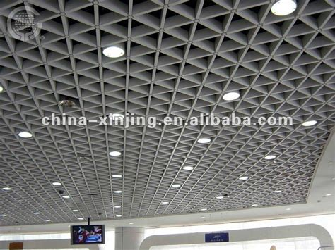Grid False Ceiling Materials Decorative Aluminum Triangular Grid Ceiling Buy Grille
