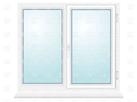 clipart windows closed plastic window with two sections 19256 objects