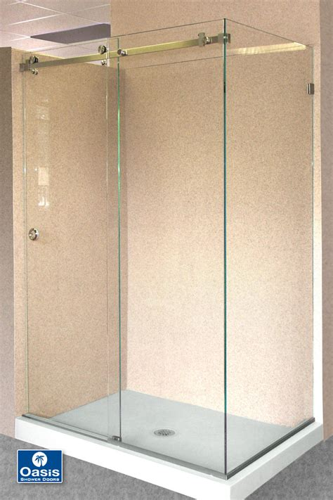 bypass glass shower doors frameless by pass sliding shower doors oasis shower