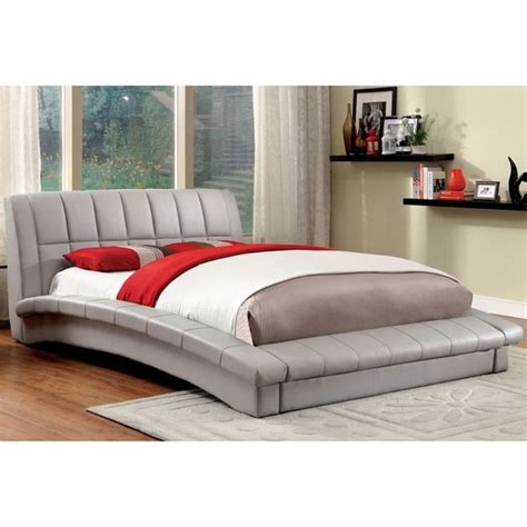 curved platform bed furniture of america corina contemporary curved