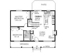 Country style house plan 2 beds 1 baths 900 sq ft plan 18 1027