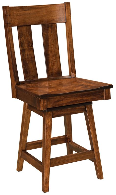 Mission Swivel Bar Stools by Rochelle Mission Swivel Bar Stool From Dutchcrafters Amish