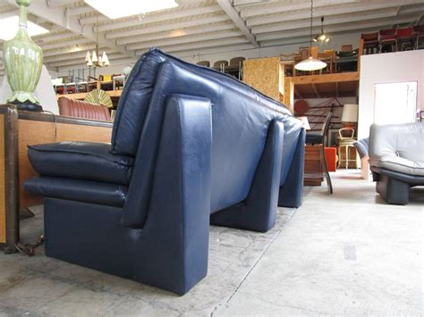 navy blue leather sectional sofa navy blue leather sofa by nicoletti salotti at 1stdibs