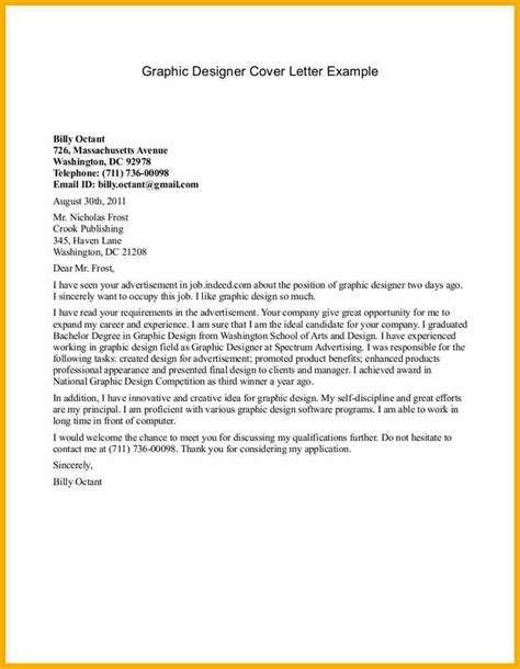 Graphic Design Cover Letter Sle Graphic Design Letter 28 Images Letter Sle Application Letter For Graphic Designer Project