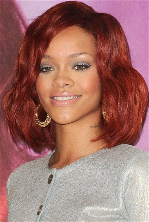 long red bob rihanna red long bob hairstyles weekly