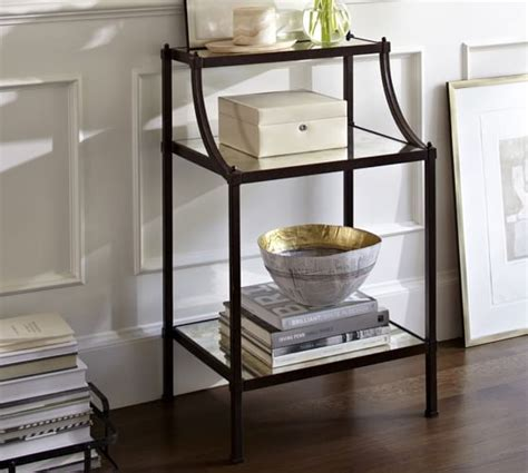 Small Bathroom Table Etagere Bedside Table Pottery Barn