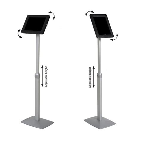 adjustable height floor l flex height adjustable floor stand for and tablet