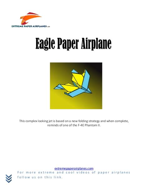 How To Make A Eagle Paper Airplane - eagle paper airplane