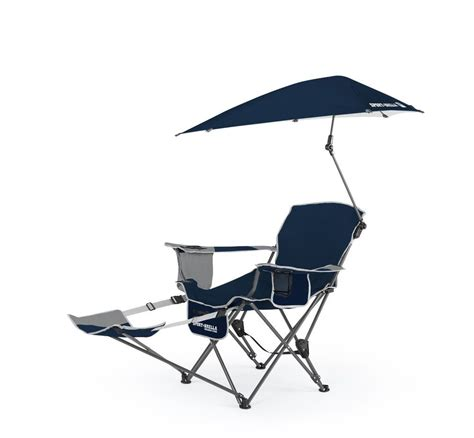 folding lawn chair with sunshade reclining cing chair with umbrella cup holder