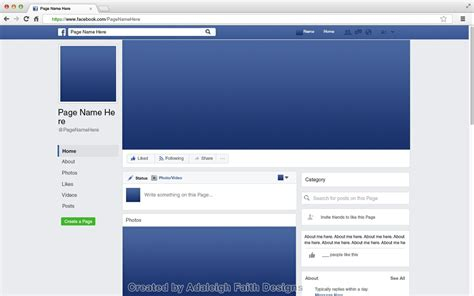 design background facebook page facebook page mockup 2017 layout adaleigh faith