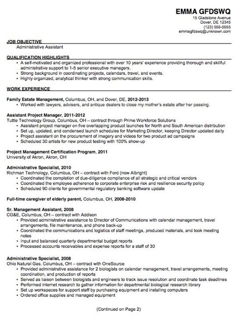 Recruiting Administrative Assistant Resume 18 Best Images About Resume On Company Resume Help And Curriculum