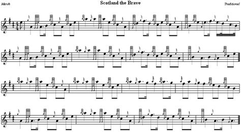 Scotland The Brave by Scottish Bagpipe Sheet Search Engine At