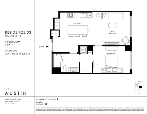 austin floor plans the austin condos of san francisco ca 1545 pine st