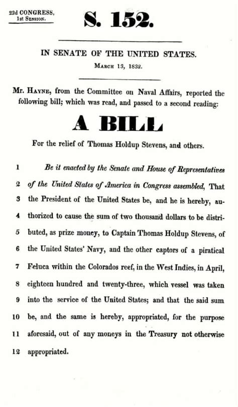 congressional bill template holdup commodore united states navy