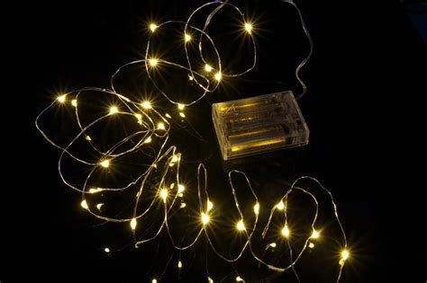 seed fairy lights copper 5m battery led