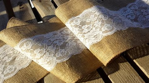Burlap Table Runner With Lace by Burlap And Lace Table Runner
