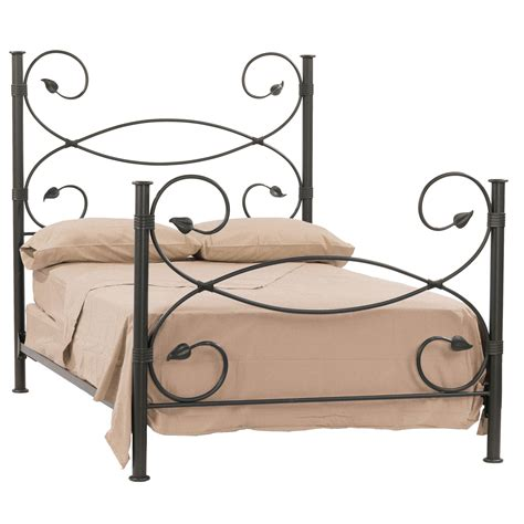 wrot iron bed wrought iron leaf collection bed by stone county ironworks