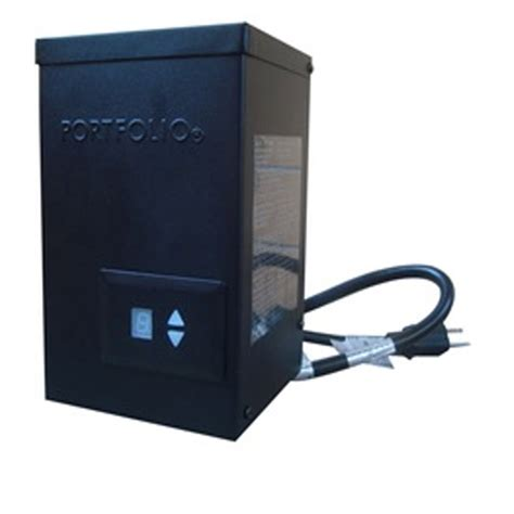 Landscape Lighting Transformer With Timer Shop Portfolio 300 Watt 14 Volts Multi Tap Transformer