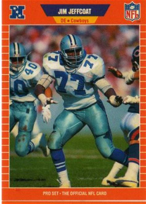 Nfl Pro Shop Gift Card - dallas cowboys jim jeffcoat 90 pro set 1989 nfl american football trading card