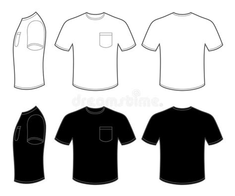 shirt pocket template pocket t shirt template mans t shirt with pocket stock