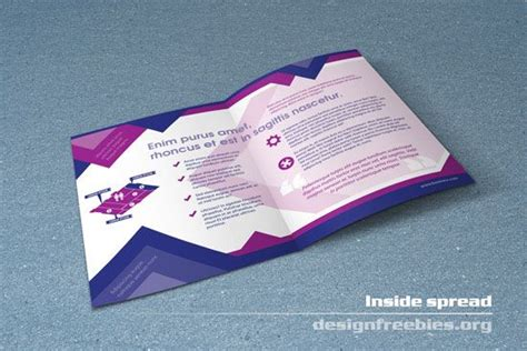 free indesign brochure templates a4 indesign bi fold brochure