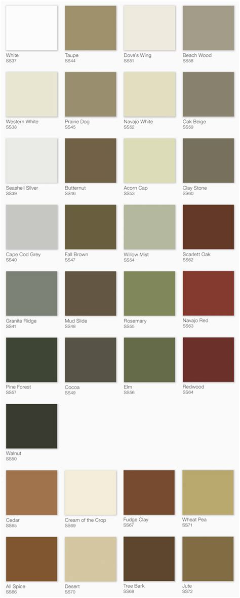 color chart solid stain woodrx