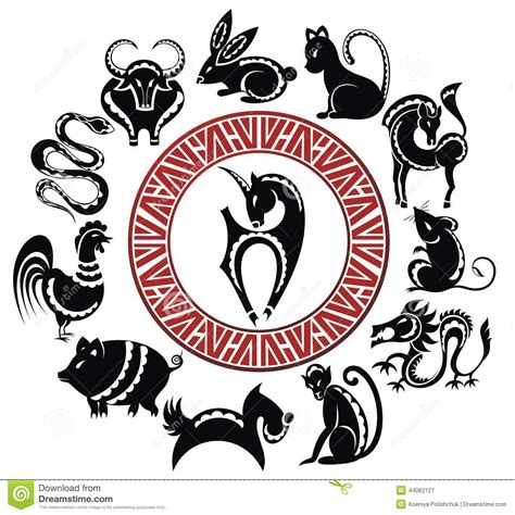 new year zodiac sign 2015 2015 zodiac signs stock vector image 44062127
