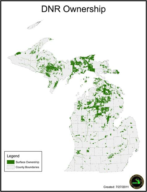 michigan state land map how much land should michigan own mlive