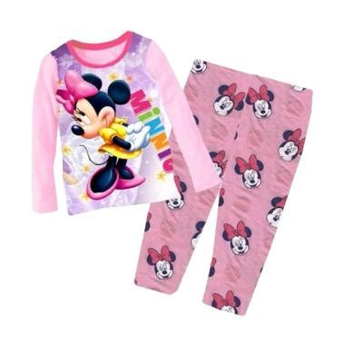 Setelan Baju Tidur Anak Perempuan Minnie Mouse P278 jual baju tidur anak perempuan terbaru harga murah blibli