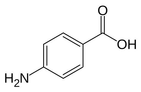 File:Para-Aminobenzoic acid.svg - Wikimedia Commons P Aminobenzoic Acid