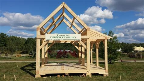 timber frame home shed porch quot tiny house quot timber frame