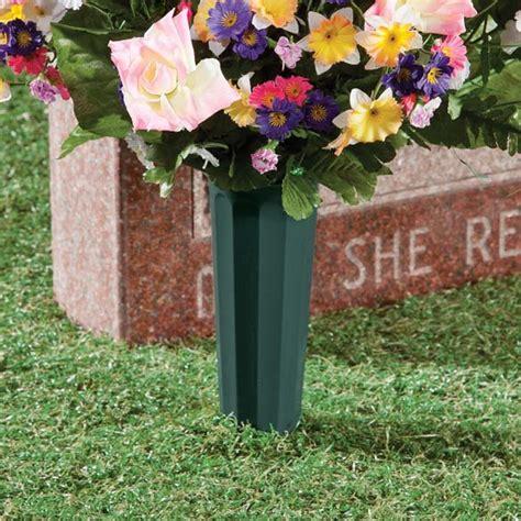 cemetery vases set of 2 cemetery flower vases