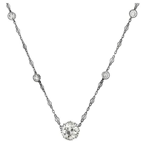 Styles Of Furniture For Home Interiors gia certified 4 19 carat diamond single stone necklace and