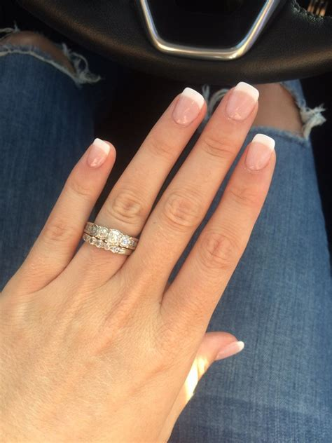 rachel did the powder dip french tip and manicure amazing
