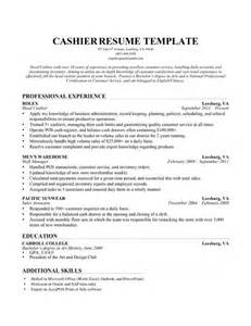 Resume Sample For Cashier by Resume For Target