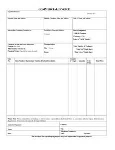 export commercial invoice template best photos of standard commercial invoice form blank
