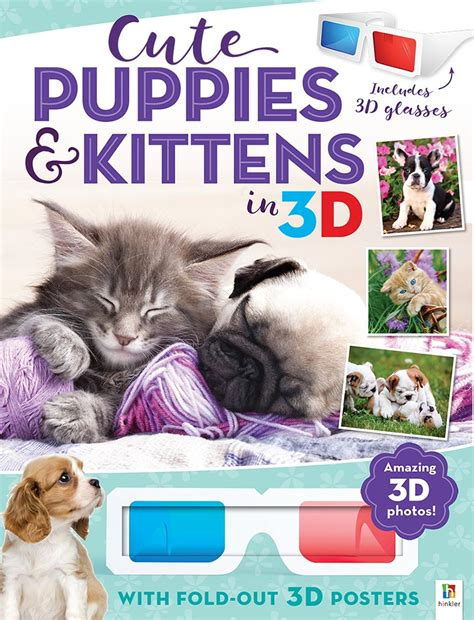 cutest puppies book 3d animals poster book puppies and kittens in 3d novelty colour