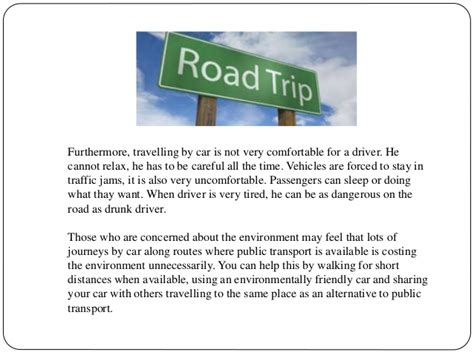 Owning A Car Advantages And Disadvantages Essay by Travelling By Car Advantages And Disadvantages