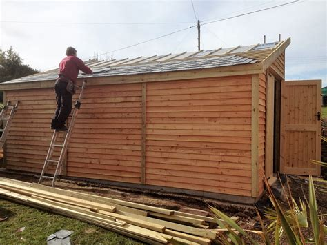 surf board storage shed  wooden workshop oakford devon