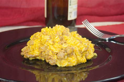 come cucinare risotto risotto con zafferano e salsiccia ricette di cucina