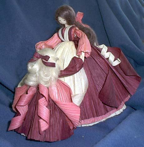 corn husk voodoo doll rosey s barn curious about dolls