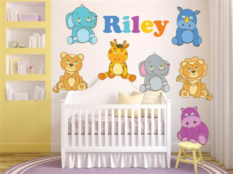Jungle Nursery Decor Jungle Wall Decals Safari Wall Decals Nursery Jungle Decor