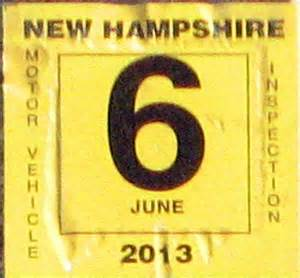 new car inspection sticker state of nh dmv milford nh hiphopkankpe