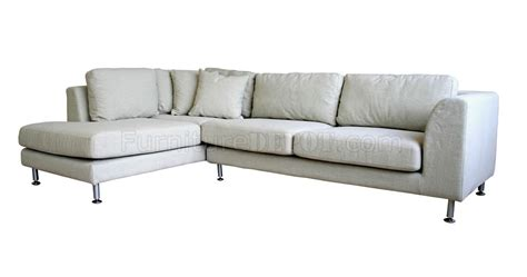 twill fabric sectional sofa with metal legs