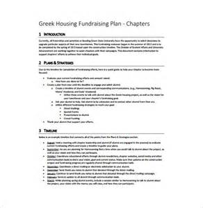 fundraising plan template 7 free word pdf documents