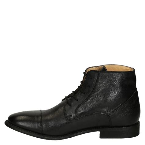 black leather plain cap toe s dress boots