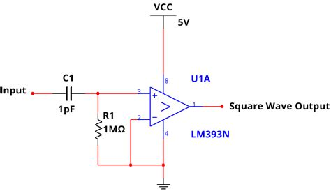 pull up resistor for comparator frequency counter