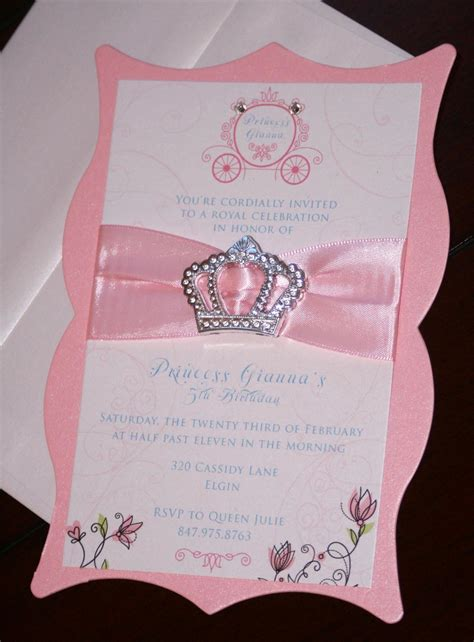 Handmade Princess Invitations - princess crown birthday invitations by takeitpersonallybym