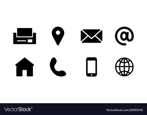 Business Card Icons Vector business card icons royalty free vector image vectorstock